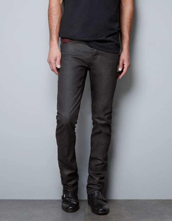 Zara Waxed Jeans for men