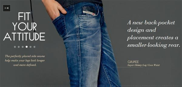 Diesel jeans for men 2013, pocket attitude