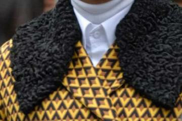 fur jacket, yellow for men