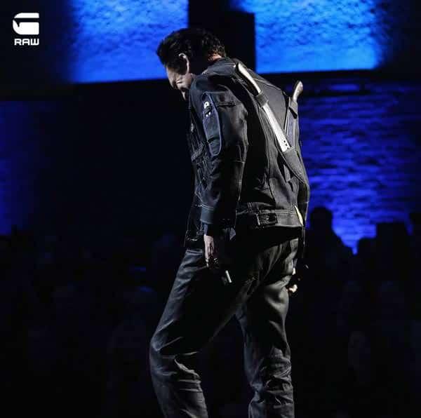 Michael Madsen wearing G-star Raw denim jacket  for 2013
