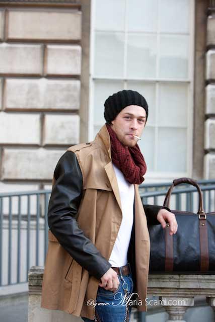 Man Bag - Black & Brown Leather
