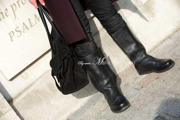 Mansbag - Black suede bag