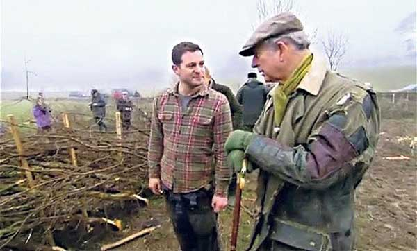 Prince Charles wearing his patched jacket on Countryfile