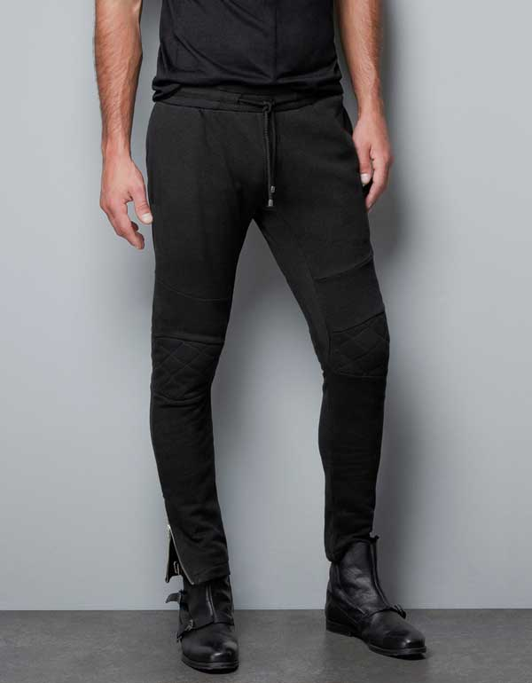 ZARA - Biker sweatpants for men