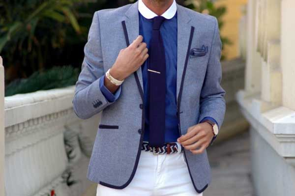 Blue BLazers for men summer 2013 and white shorts