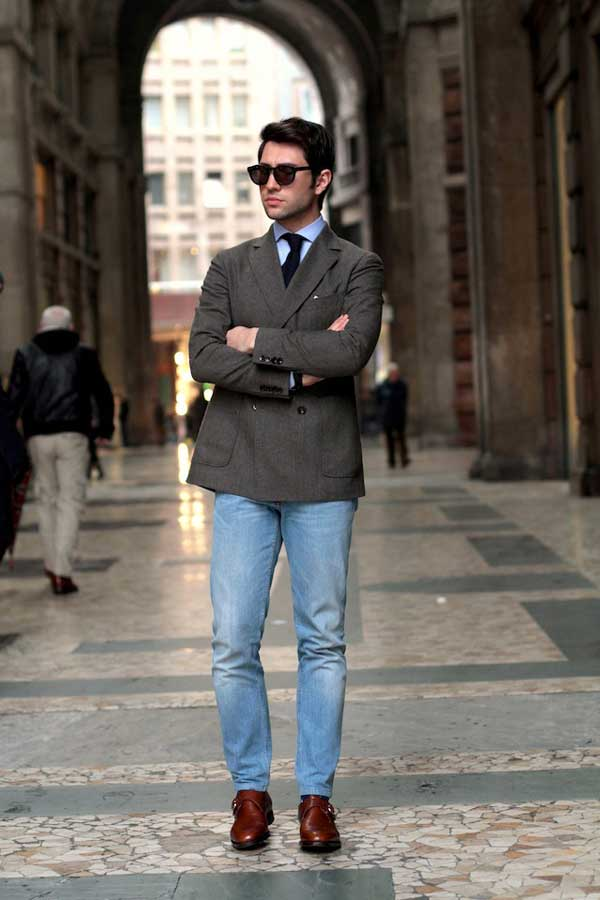 Denim trousers - Blazers for men 2013