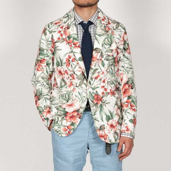Images of Mens Floral Blazer - Reikian
