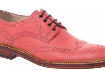pink brogues for men 2013 weddings