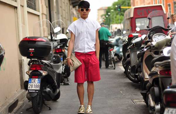 Shorts for men - red summer 2013