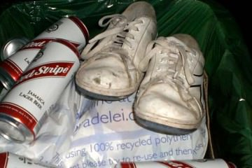 trainers in the bin