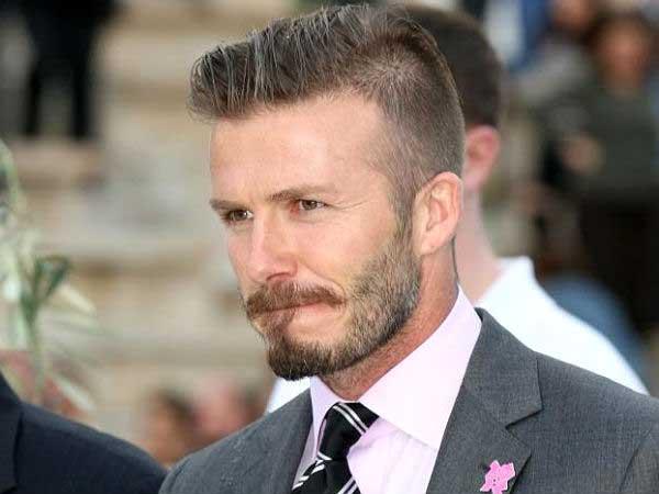David Beckham- Grey suits fashion 2013