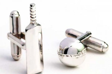 Cuff Links - Cricket Bat and Ball