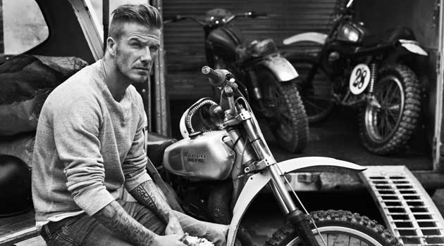 David Beckham- Motorbike fashion 2013