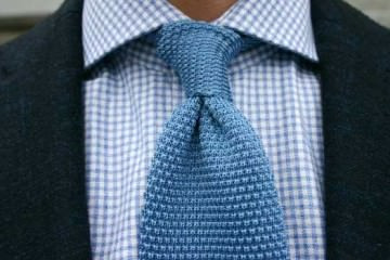 Blue chunky ties for Prince Harry