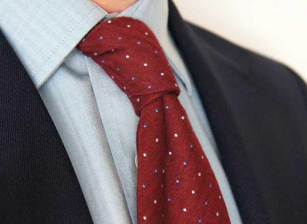 Wool Herringbone - Red Ties for men