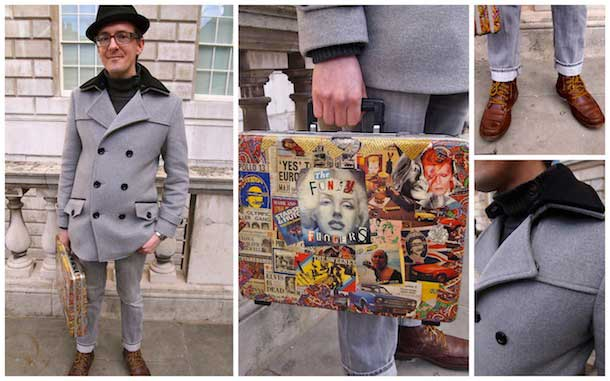 Suitcase fashion for men artycouture by Darren Charman