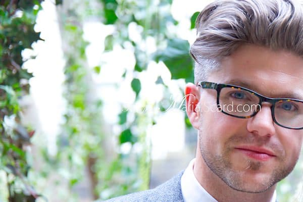 Darren Kennedy -  Irish TV Presenter showing of his glasses