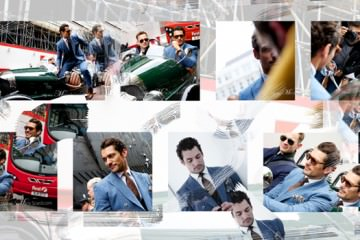 David Gandy - Reiss Three Piece Suit at London Collections: Men