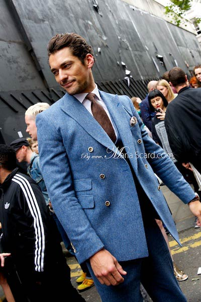 David Gandy - Wearing a three piece suit by Reiss