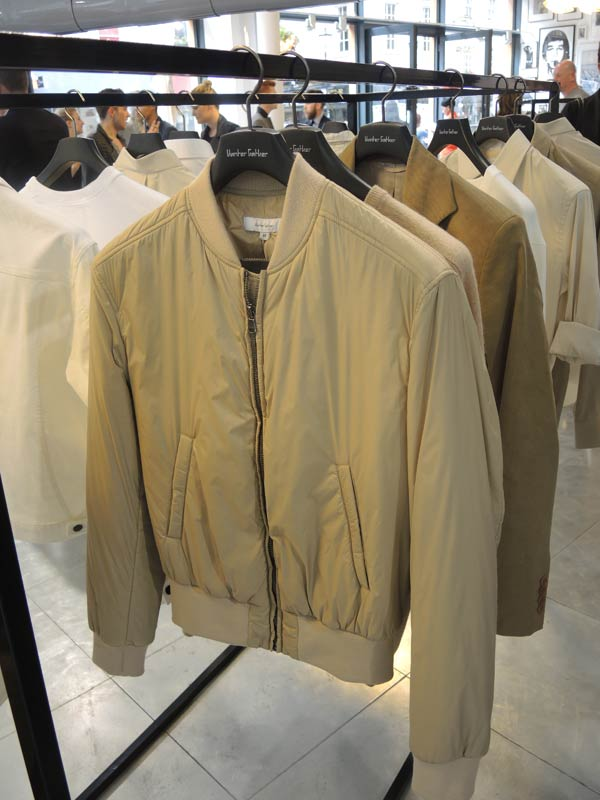 Hunter Gather - Spring Summer 2014 Collection - London Collections Men - Beige Bomber Jacket