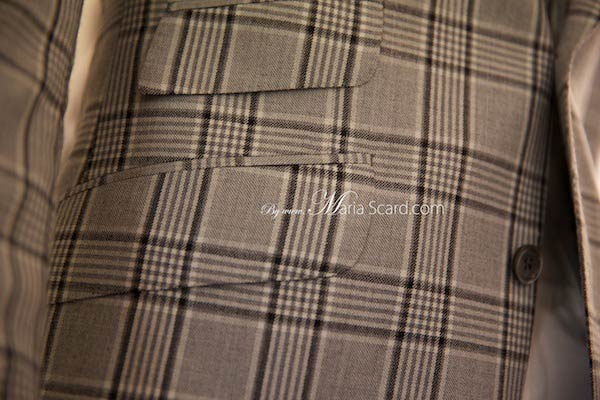 Marks & Spencer  Classic Beige Blazer - Checkered pattern
