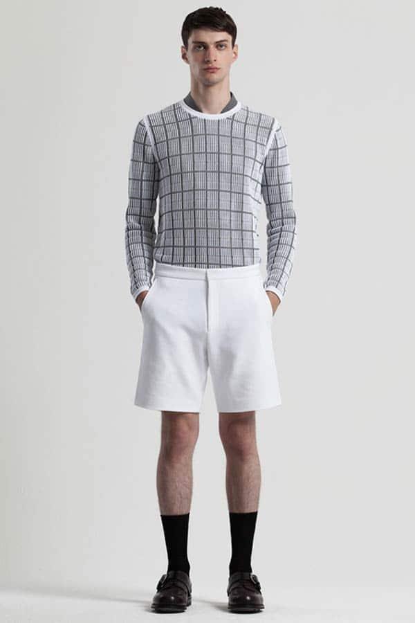 Pringle of Scotland - Checkered Shirt plus white shorts - Spring Summer 2014 collection