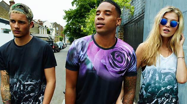 Reggie Yates - Burton Collections 2013  T- Shirts Rose Print