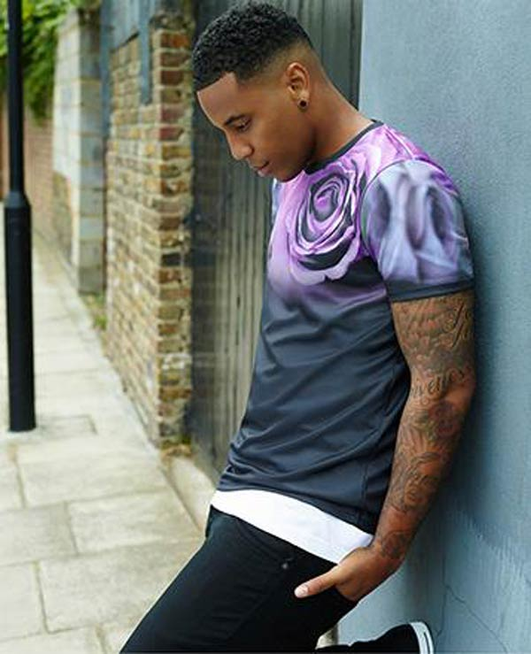 Reggie Yates - Burton Collections 2013  T- Shirts with a Rose Print