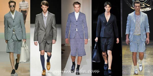 Suit Shorts for men summer spring and shoes