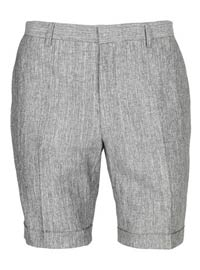 Topman - Grey Slub Suit Shorts