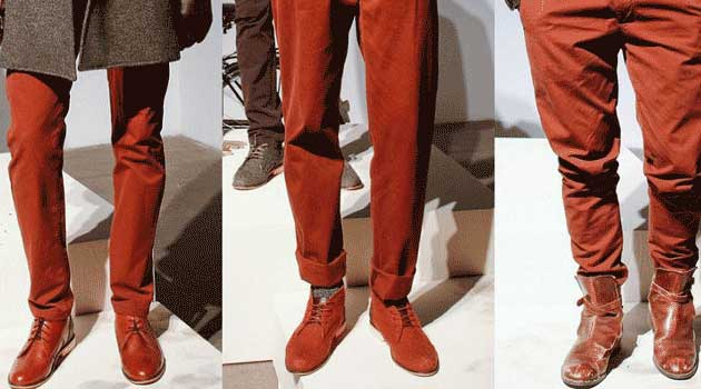 Burnt Orange Chinos for men