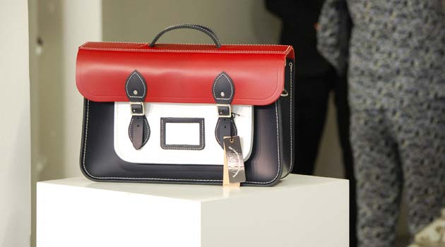 Cambridge-Satchel - British Red White and Blue