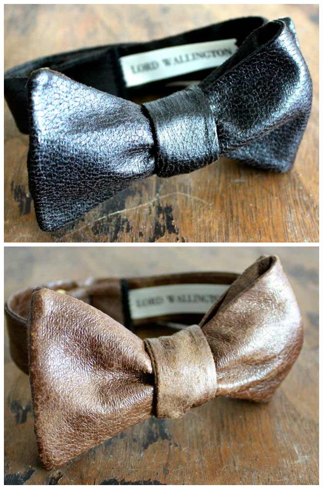 Leather Bow Ties For Men