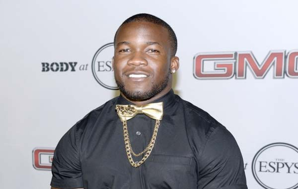 Ronnie Hillman in Christopher Chaun Finale Giselle at ESPYS party