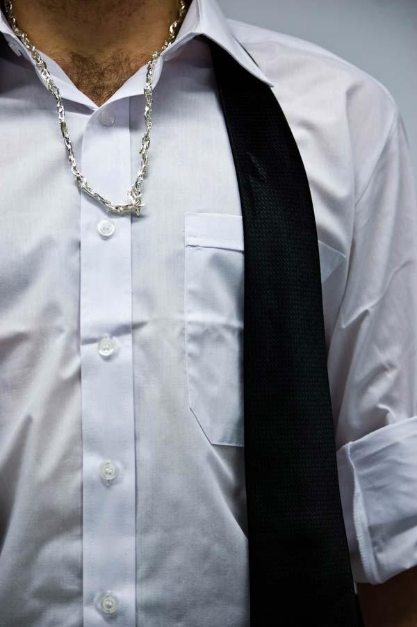 Adam necklace silver for men - London Collections Men