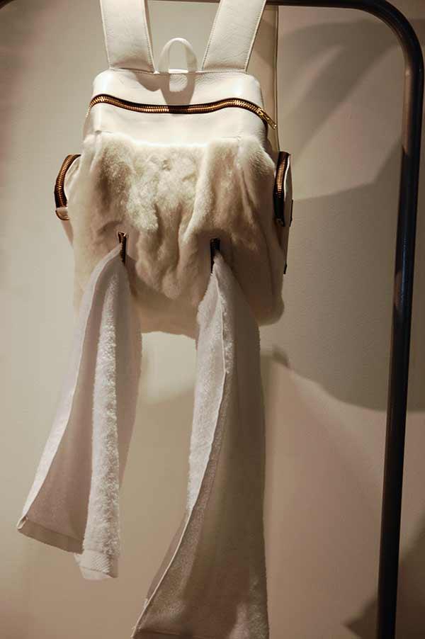 mens man bag animal tail