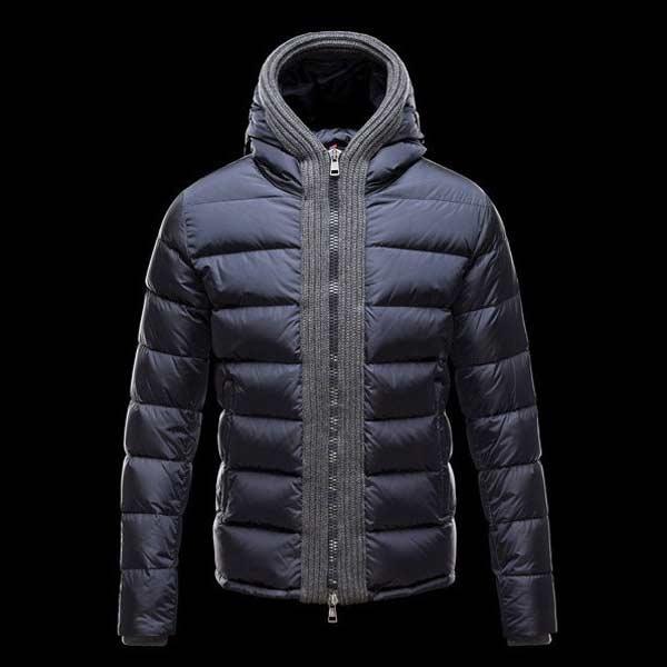 Moncler navy blue padded-jacket