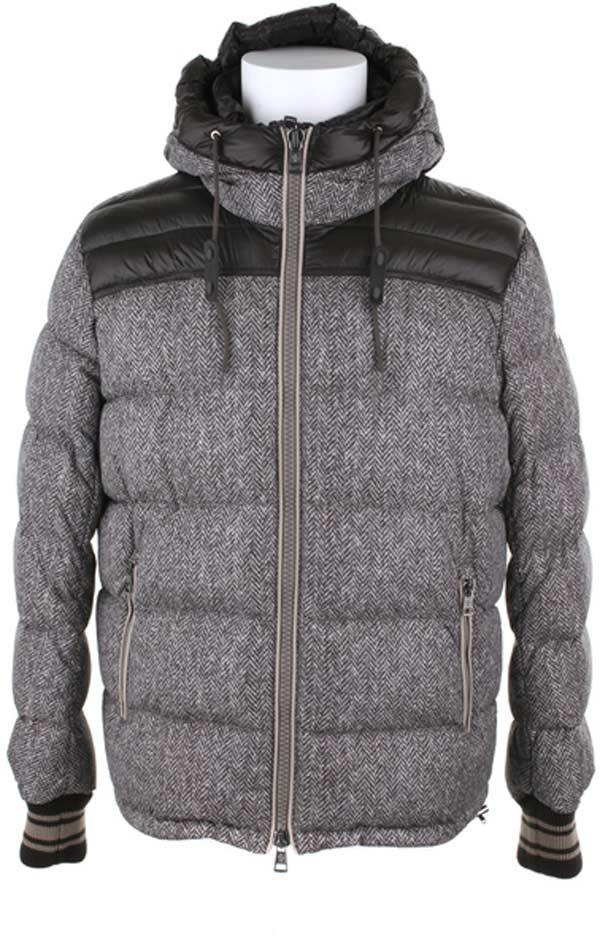 Moncler polyamide fibers tweed padded jacket
