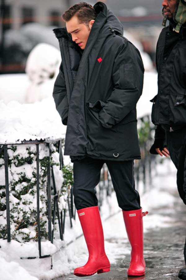 Knee High Boots For men Red Hunter boots