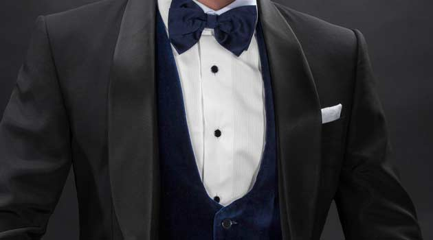 Waistcoats worn with a Tuxedo blue velvet