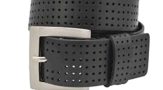 mens leather belts black