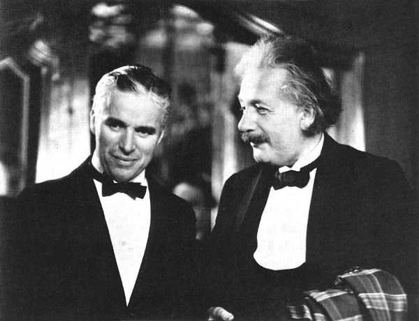 Charlie Chaplin & Albert Einstein Black Tie