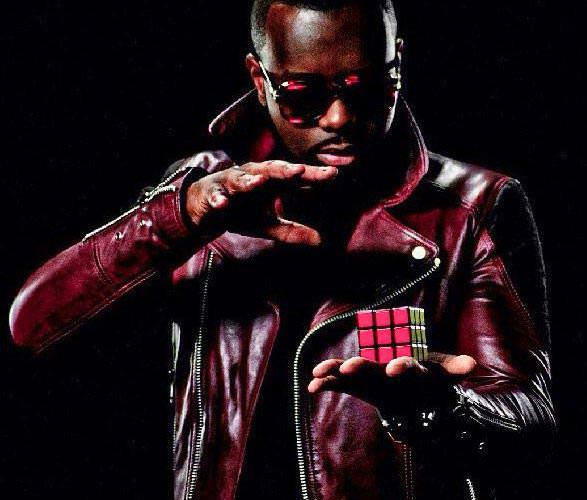 maitre gims leather jacket red