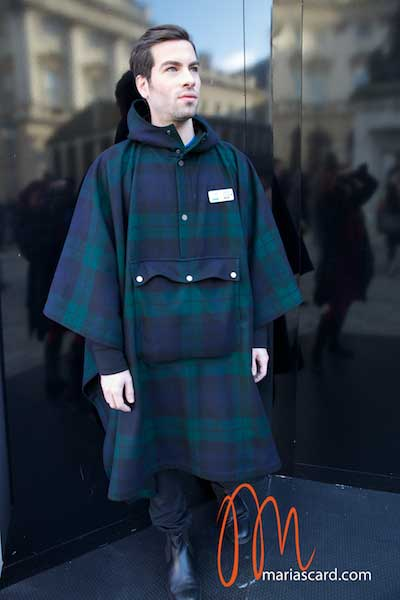 Christopher Raeburn - Tartan Cape for men at LFW 2014 American Express Collaberation