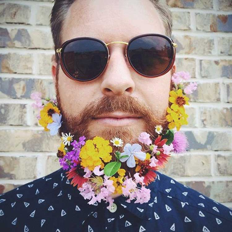 Flower Power Beards Is This The Start Of A New Trend