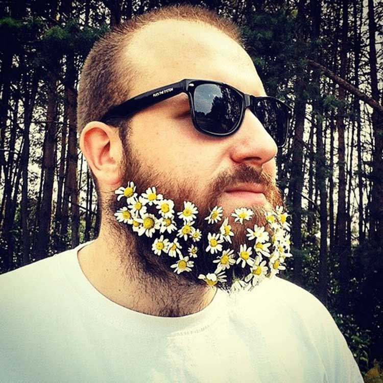 Incredible Flower Power Beards Is This The Start Of A New Trend Men Style Short Hairstyles Gunalazisus