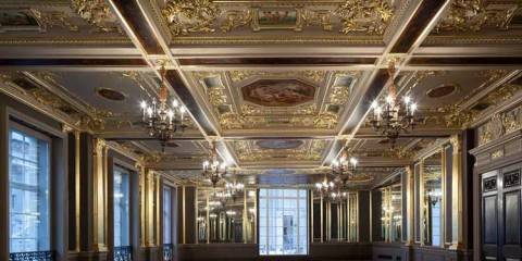 Cafe Royal hotel. The Pompadour Suite ceiling