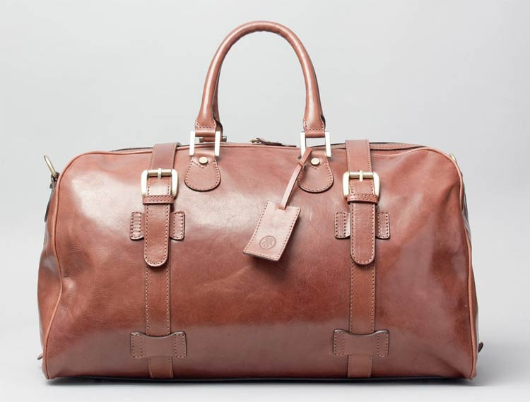 The Maxwell Scott FleroM Bag - Luxury Leather Overnight Bag - Men ...