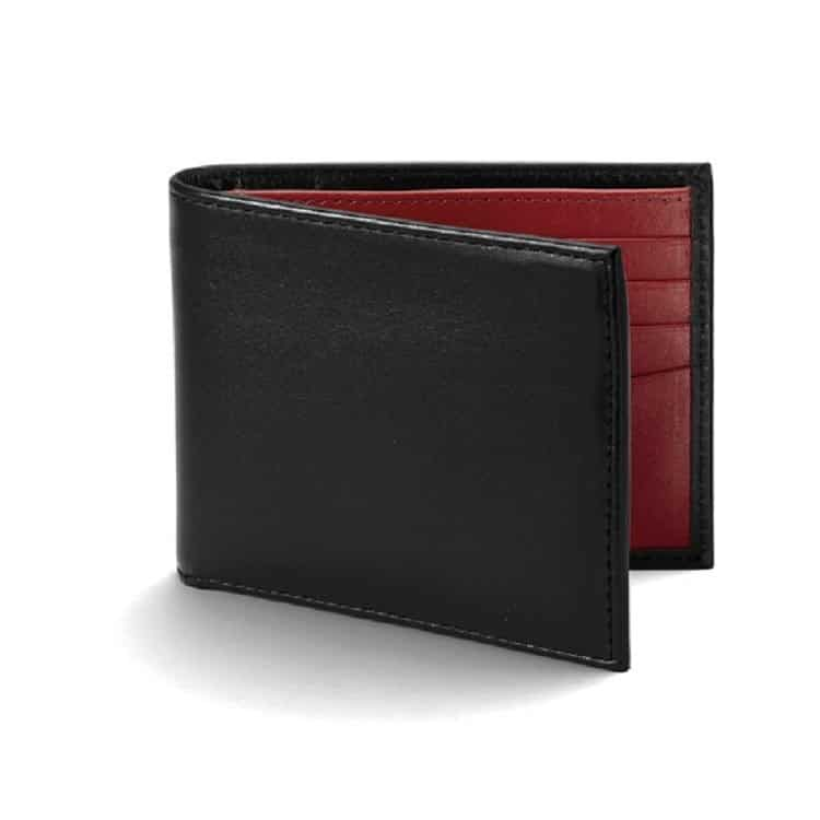 Pick of the pack: Leather jeans wallet in smooth black and smooth red £55