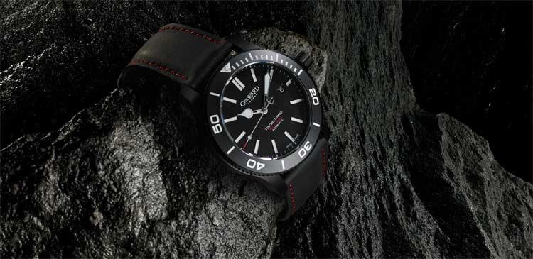 Christopher-Ward-C60-Trident-Titanium-Black-Leather